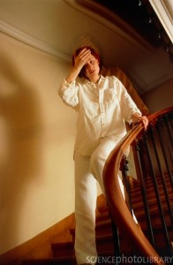 Woman experiencing the symptoms of labyrithitis. BSIP, Laurent / Natalia / Science Photo Library